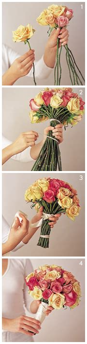 diy how to make a bouquet for a photoshoot green wedding shoes do it yourself diy rose bouquet step by step instructions