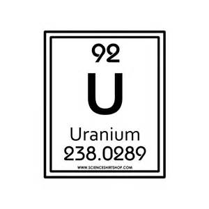 What Is U On The Periodic Table by 92 Uranium Cotton Empire