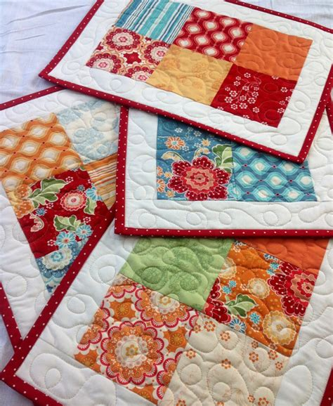 Quilting Placemat Patterns by Flutter Multicolor Quilted Placemats By Coolspool 40 00 Quilts Sewing