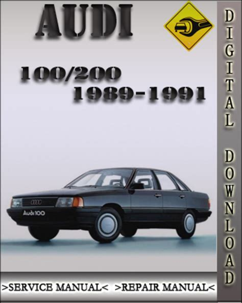 1989 1991 audi 100 200 factory service repair manual 1990 downloa