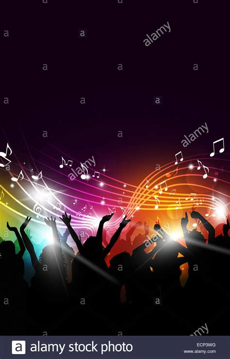 party music abstract party music background for flyers and night club