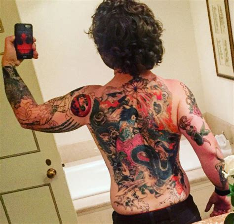 jack osbourne unveils huge back tattoo