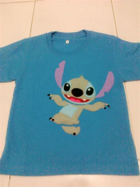 Kaos Valentino Cotton Combed 1 biru benhur stitch flabers
