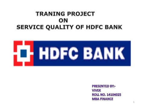 hdfc bank list service quality of hdfc bank