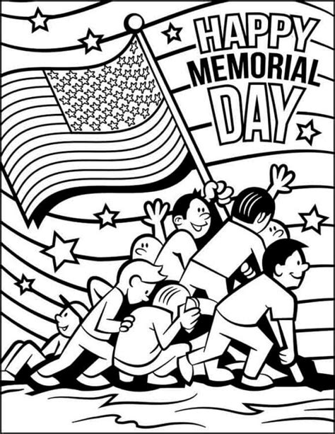 printable coloring pages for memorial day black and white memorial day clipart banners borders