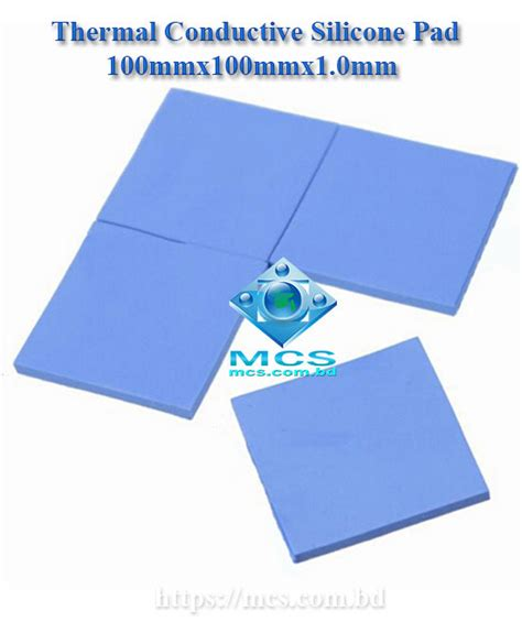 Thermal Cooling Pad Cpugpuchipset Heatsink Terbaik gpu cpu heatsink cooling thermal conductive silicone pad durable 100mmx100mmx1 0mm mcs