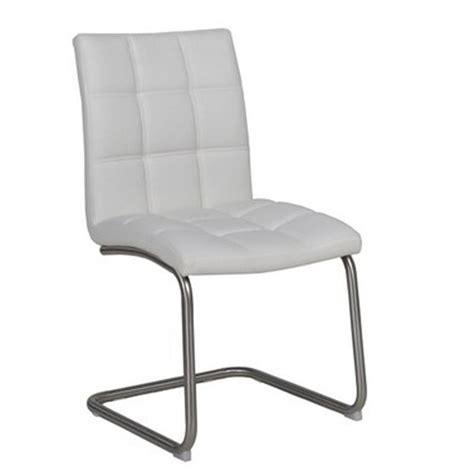 chaise cuir blanc chaise cantilever en simili cuir blanc et pi 232 tement en