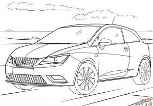 coloring pages seat ibiza coloring page free printable coloring pages