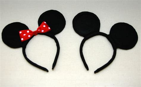 How To Make Mickey Mouse Ears Out Of Paper - one creative diy mickey minnie mouse ears