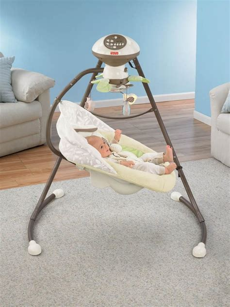 bunny fisher price swing com fisher price snugabunny cradle n swing with