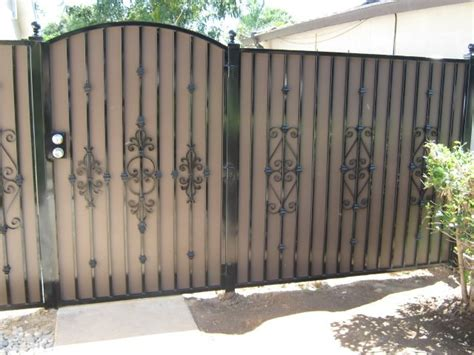 wrought iron fence privacy panels for fence gate