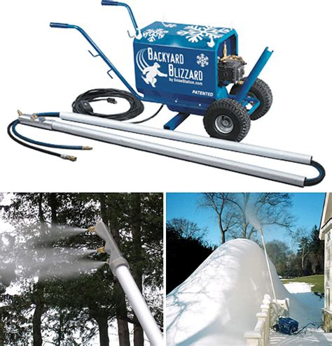 backyard blizzard backyard snow making machine is compact and affordable