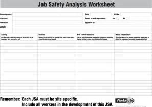 the job safety analysis worksheet can help you make a