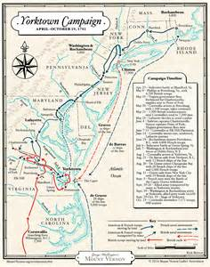 yorktown map map the yorktown caign of 1781 183 george washington s