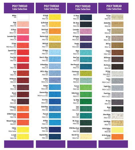 colors chart color charts penn emblem company