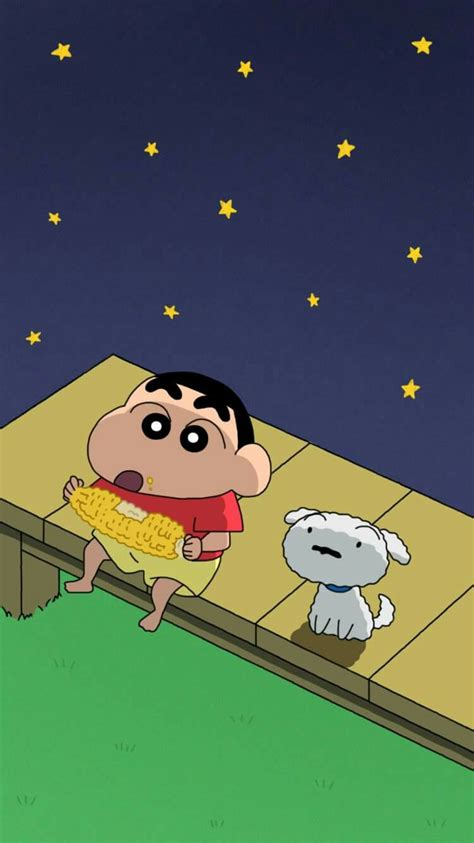 wallpaper iphone shinchan shinchan and shiro disney pinterest shiro crayon