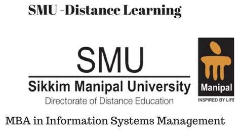 Mba Education Management Distance Learning by Smu Mba In Information System Management Distance