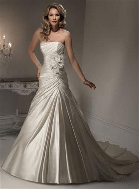 romantic strapless floral a line corset wedding