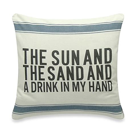 bed bath and beyond decorative pillows the sun and the sand square throw pillow bed bath beyond