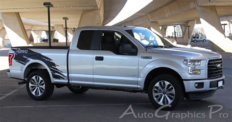 truck bed decals 2015 2016 2017 2018 ford f 150 torn vinyl graphics side truck bed decal mudslinger