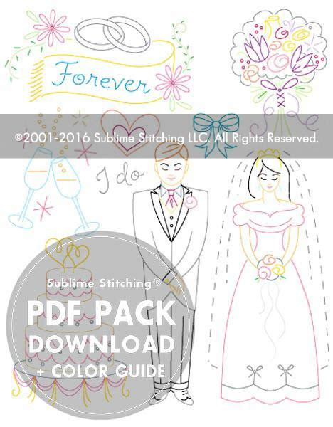 Wedding Wishes Pdf by Wedding Embroidery Patterns And Groom From Sublime
