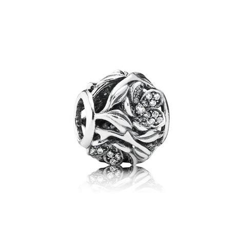 Pav Watermelon Charm P 916 openwork floral silver charm with pave set cubic zirconia pandora 691 9 99 official