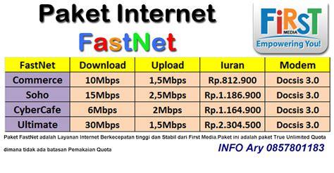 Paket Wifi Media paket f i r s t media fastnet 1 paket