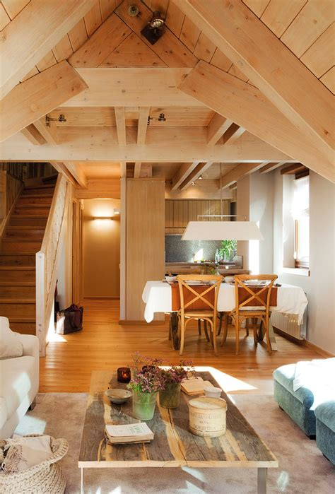 cottage home interiors small and cozy mountain tiny cottage in val d aran