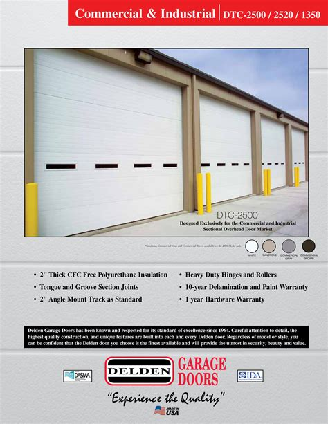 overhead door warranty renner supply company offers 10 years delamination and