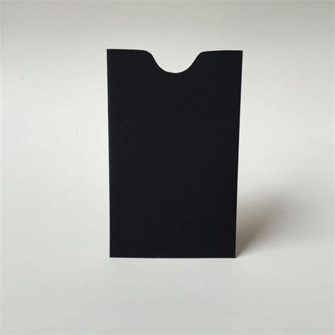 Gift Card Sleeve Envelopes - 25 black mini envelopes business card holder gift