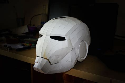 Ironman Helmet Papercraft - papercraft iron helmet wip on behance
