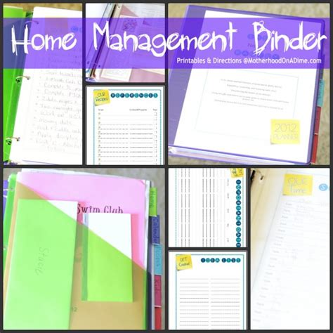 home organization binder it s finished well pretty much my home management