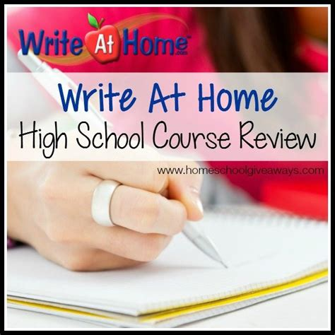 writeathome high school course review and end of year