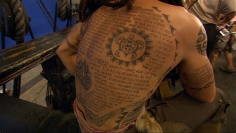 johnny depp s jack sparrow tattoo real all captain jack sparrow poetry in motion captain jack