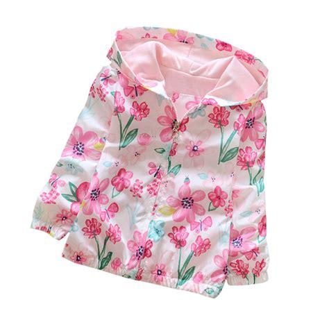 flower pattern hoodies 2 7y girl clothing baby girl flowers hoodie jacket autumn