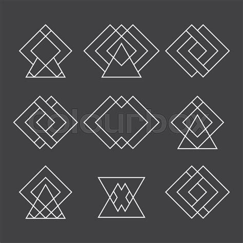 geometric tattoo wiki set of trendy geometric shapes hipster logotypes