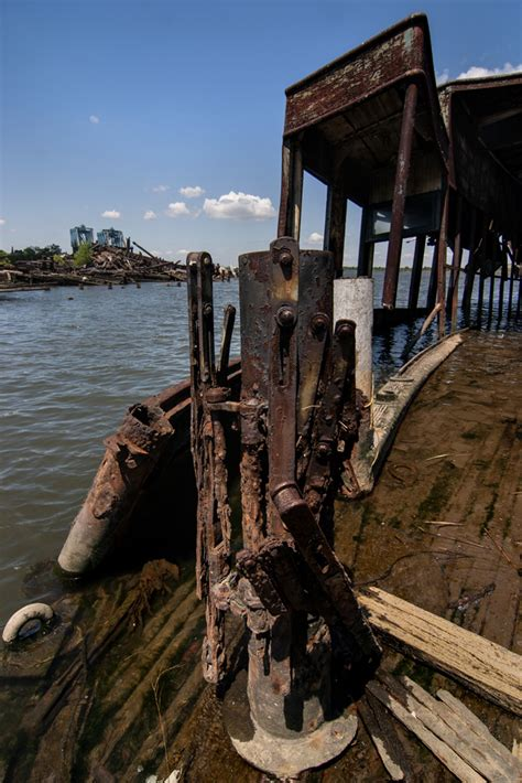 old boat graveyard ferry gate photo of the abandoned staten island boat