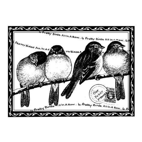 crafty individuals rubber sts crafty individuals ci 193 four pretty birds rubber