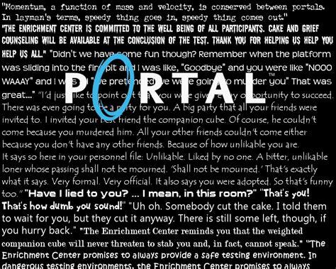 glados quotes portal glados quote wallpaper