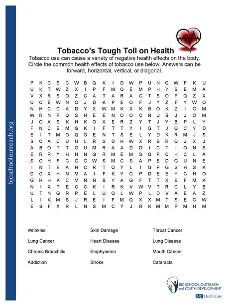 printable smoking quiz worksheets health education worksheets opossumsoft
