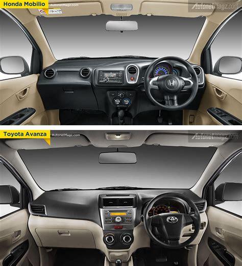 Tv Mobil Avanza Di Medan perbandingan interior honda mobilio dengan toyota avanza