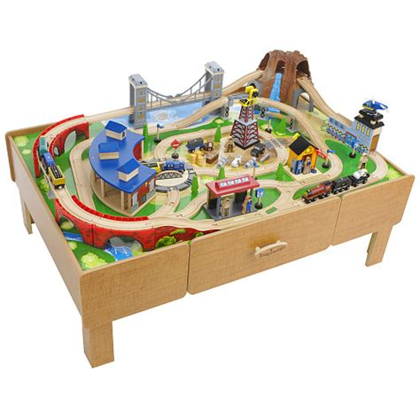 brio train table with drawers kids train table