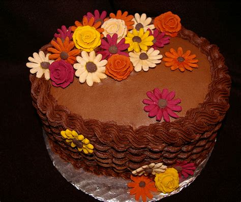 Thanksgiving Cake Decorating Ideas by Floral Thanksgiving Cake Picture Png 1 Comment