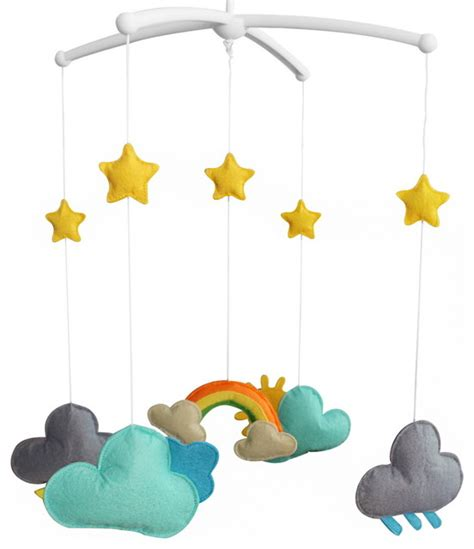 Musical Baby Crib Mobile Handmade Baby Bedding Musical Mobile Infant Hanging Musical Mobile Contemporary Baby Mobiles