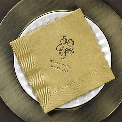 Wedding Anniversary Napkins by Wedding Anniversary Napkins Personalized Anniversary