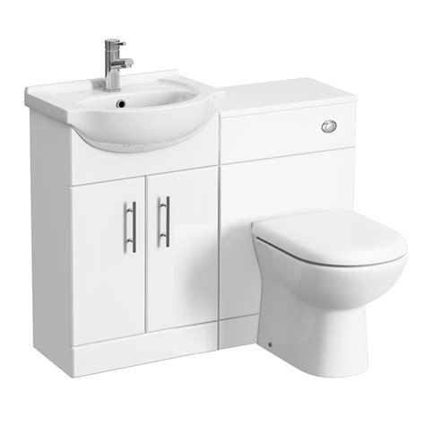 Cloakroom Suites With Vanity Unit by Alaska High Gloss White Vanity Unit Cloakroom Suite W1050