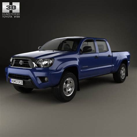 toyota tacoma bed toyota tacoma double cab long bed 2012 3d model humster3d