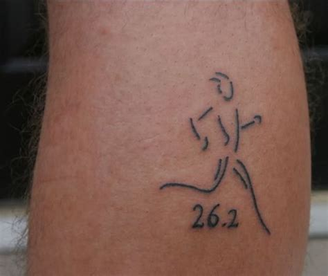 running tattoos for men linked in s jersey marathon battle of