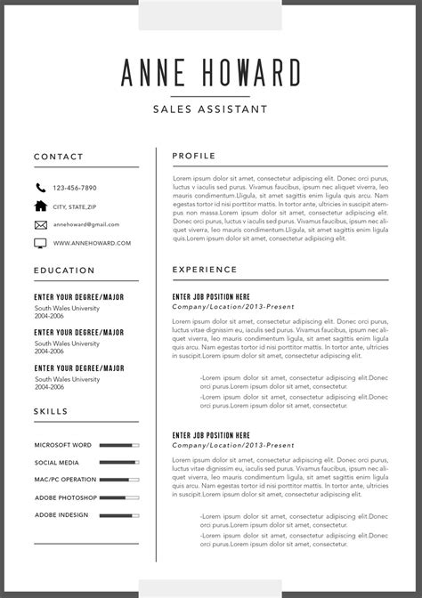 Professional Resume Format Exles by 17175 Contemporary Resume Template 10 Modern Resume
