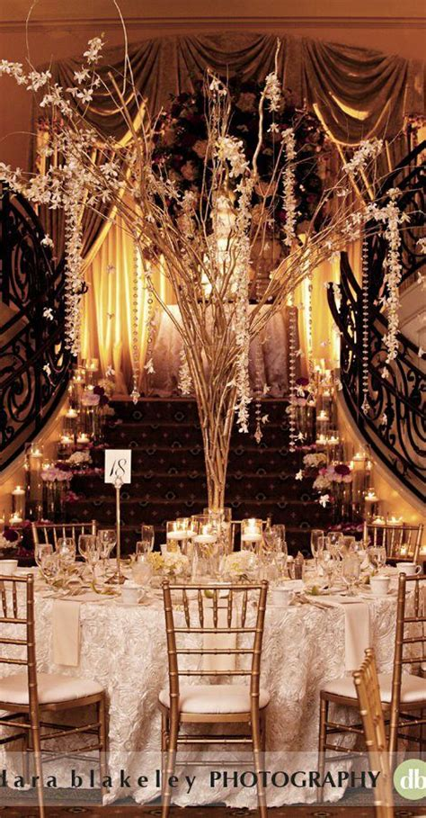 great gatsby wedding reception tablescape great gatsby